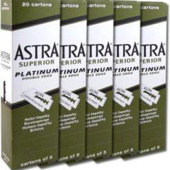 Hojas Astra, 5 cajas 100u.