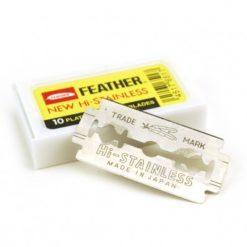 Hojas Feather platinum, caja 10u.