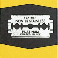 Hojas Feather platinum, caja 200u.